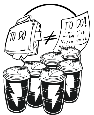 To Do Coffee Cups Doodle