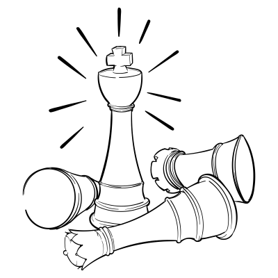 Doodles 0020 chess king
